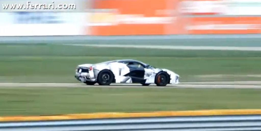 Fernando Alonso tests Ferrari's LaFerrari supercar at Fiorano