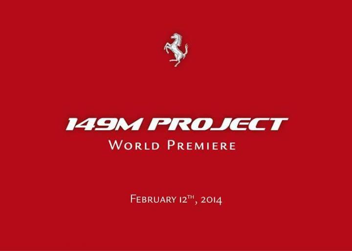Ferrari 149M Project teaser.
