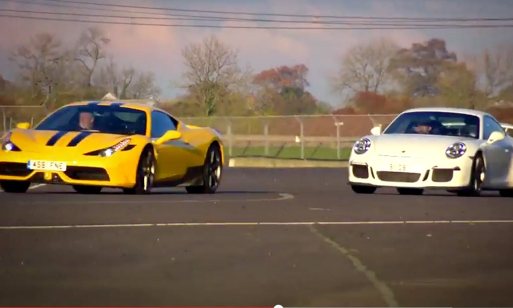 Chris Harris In A 911 Gt3 Takes On Tiff Needell In The 458 Speciale Video