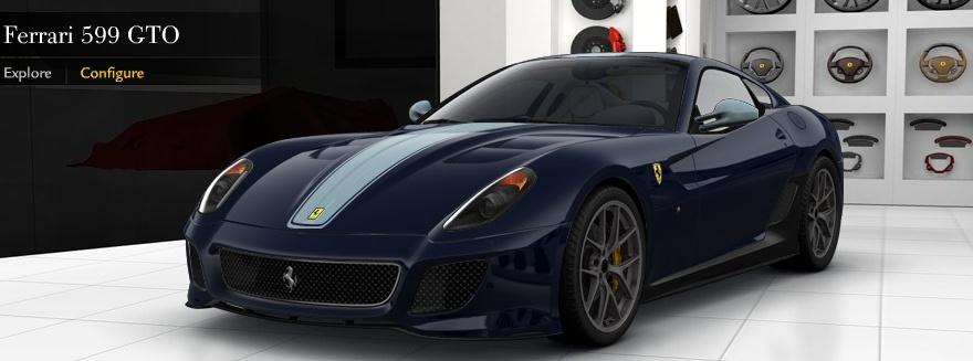Ferrari 599 Gto Configurator Launched