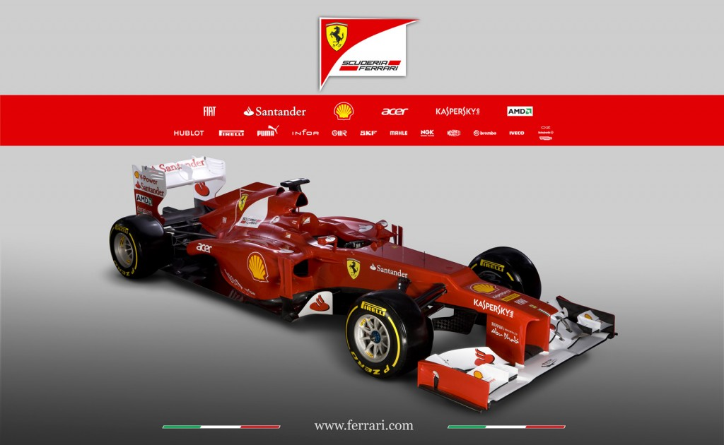 Ferrari Unveils Its Formula Race Car