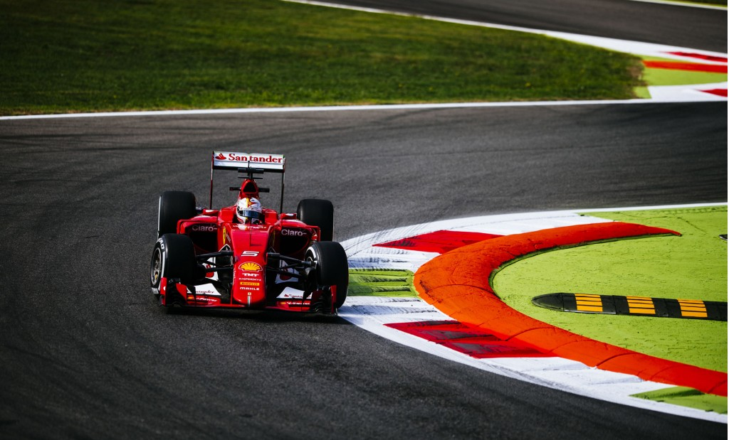 Ferrari in the lead at the 2015 Formula One Italian Grand Prix