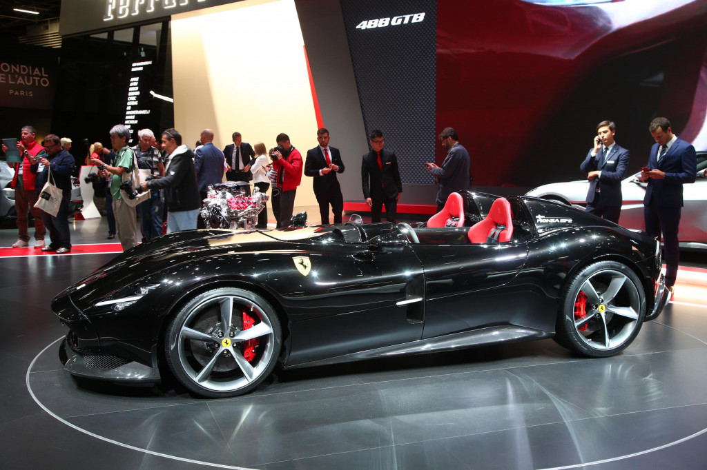 Ferrari 812 Superfast-based Monza speedsters debut in Paris, first of new Icona series