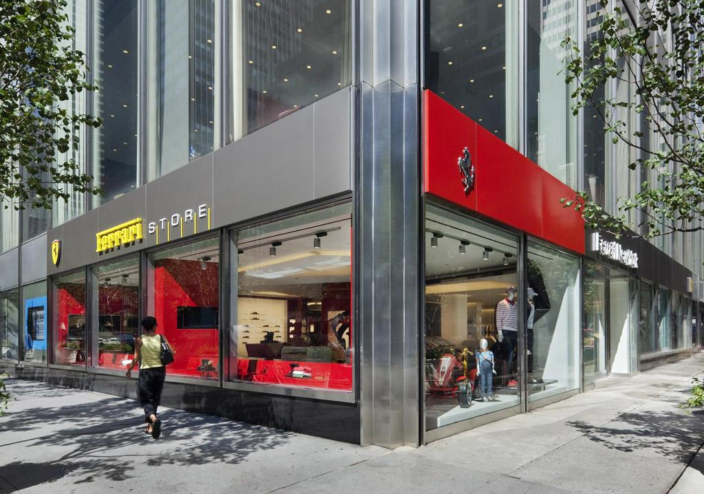 Lavish Ferrari Store finally opens in New York