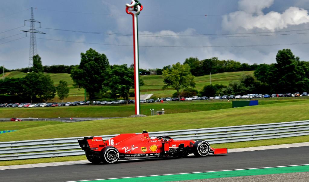 Ferrari's Charles Leclerc at the 2020 Formula One Hungarian Grand Prix