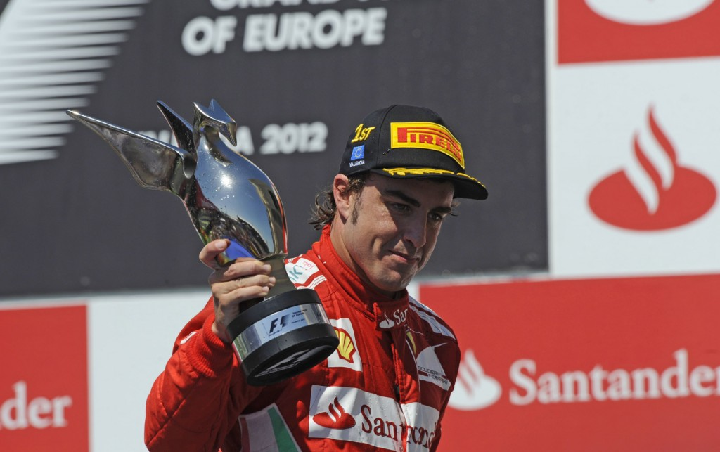 Ferrari's Fernando Alonso the winner of the 2012 Formula 1 European Grand Prix