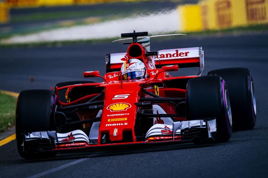 Ferrari's Sebastian Vettel at the 2017 Formula One Australian Grand Prix