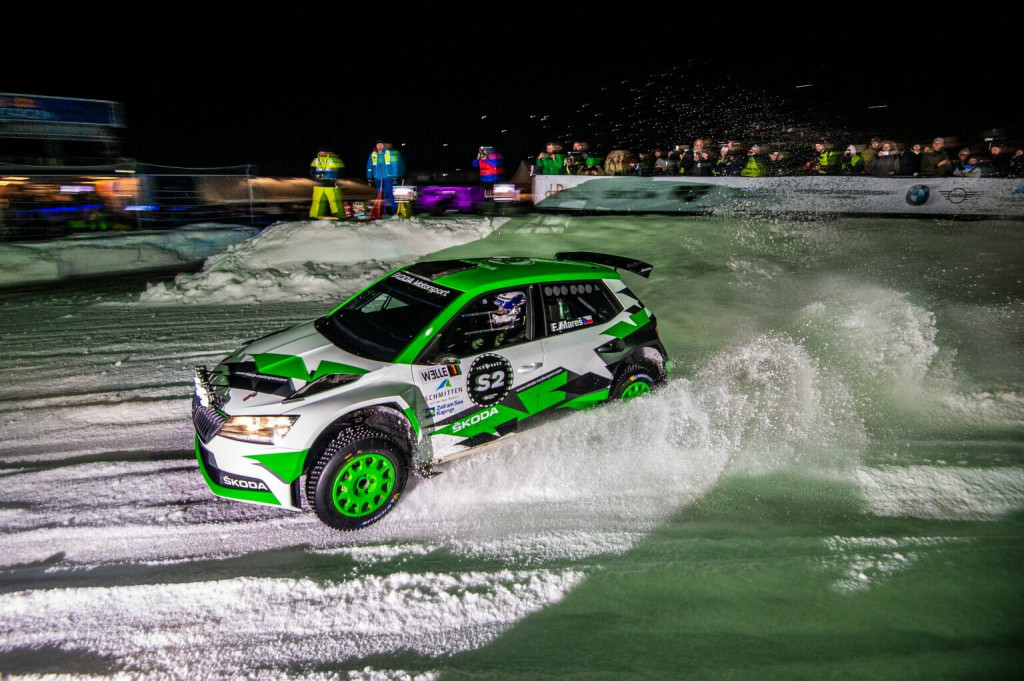 Filip Mares in Skoda at second GP Ice Race weekend