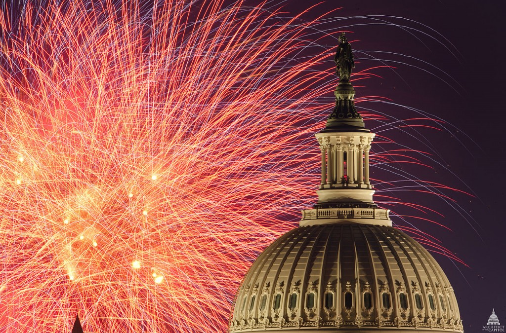 Fireworks at the U.S. Capitol, July 4, 2012