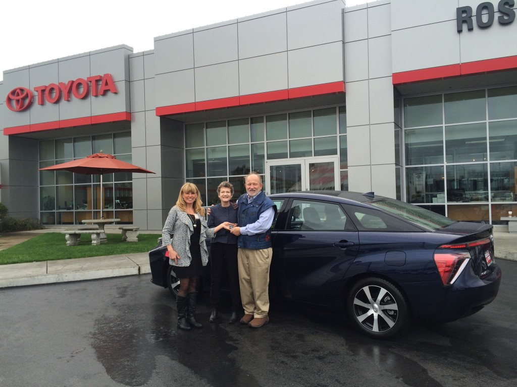 First 2016 Toyota Mirai in the U.S. delivered at Roseville Toyota