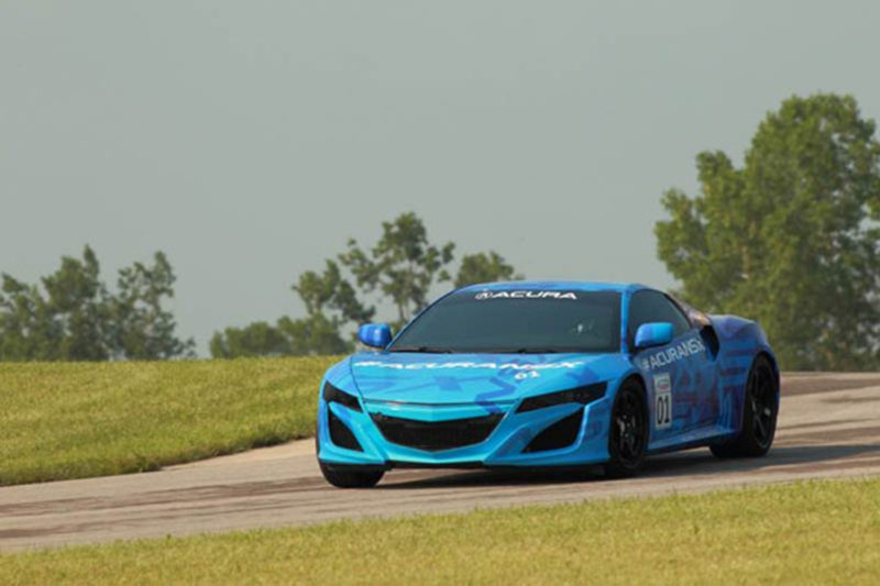Acura NSX Prototype Headed For Goodwood Hill During Festival Of Speed