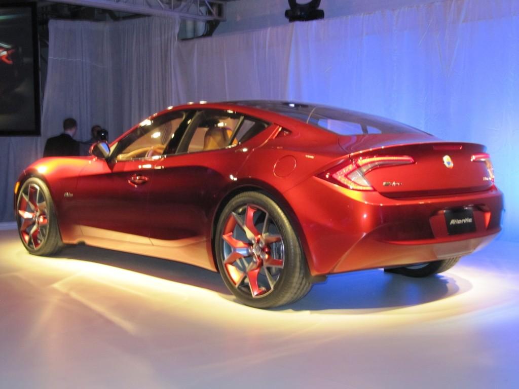 Fisker Atlantic concept unveiling before New York Auto Show, April 2012