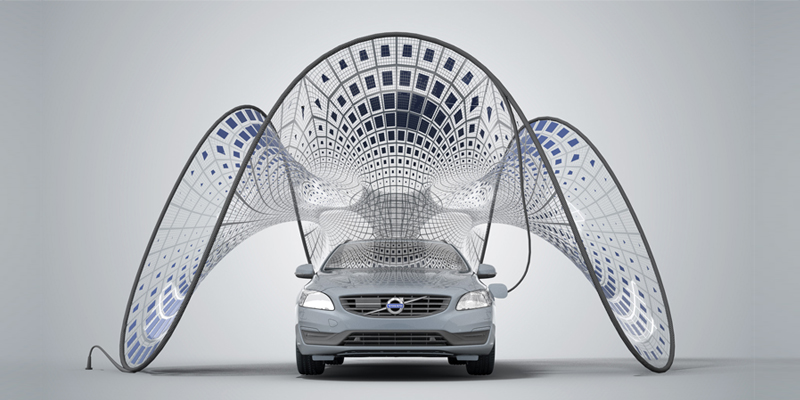 Is This Volvo Solar Pavilion The Ultimate Electric Car