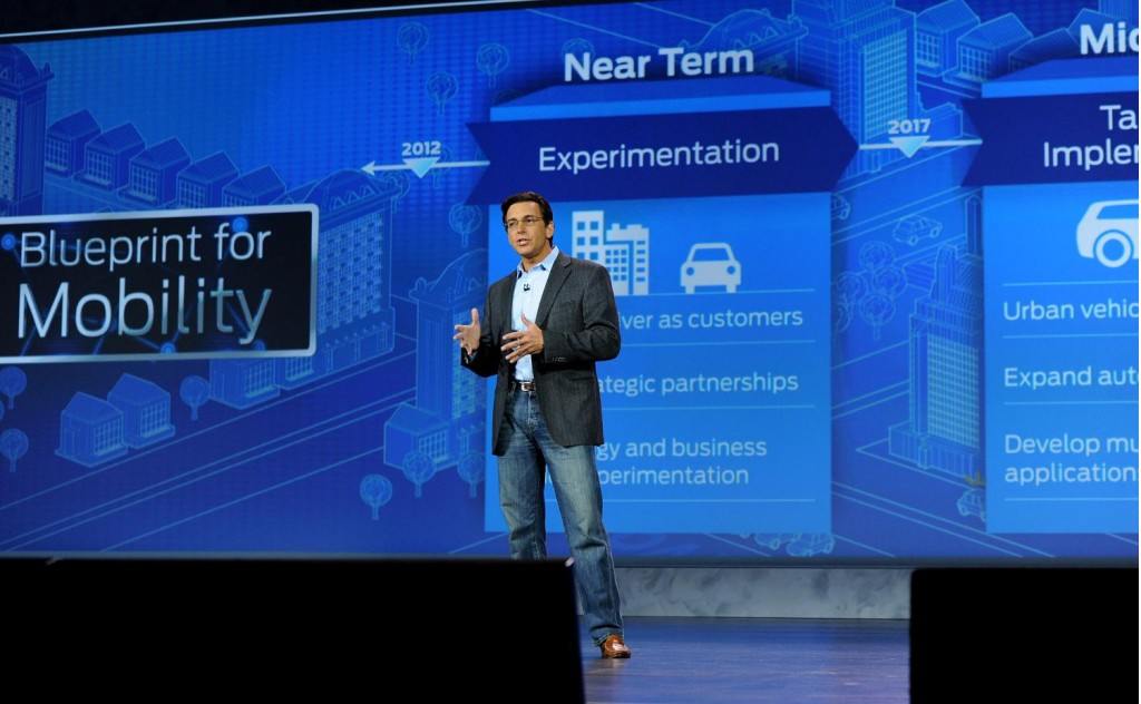 Ford CEO Mark Fields at CES 2015