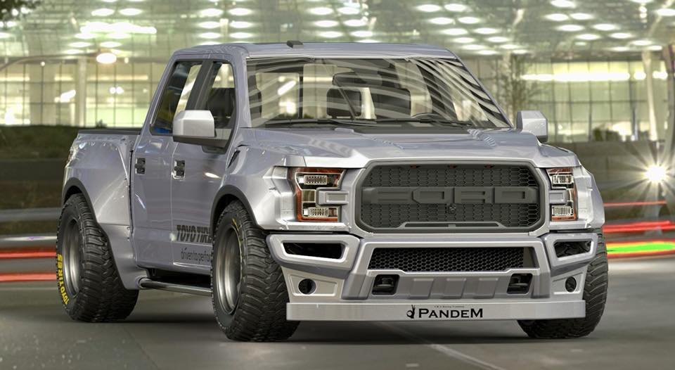 A wide-body kit for the Ford F-150 Raptor could look like this