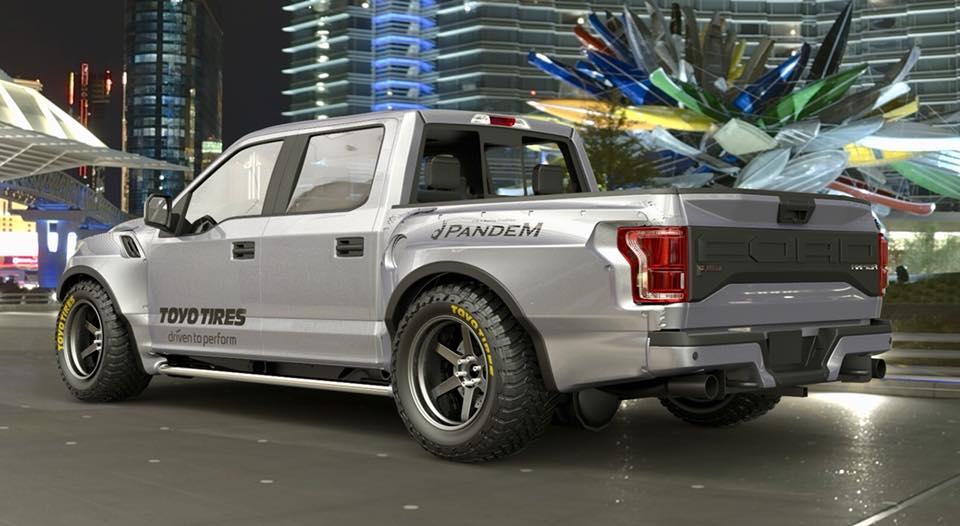 Pandem Rocketbunny Ford Raptor rendered