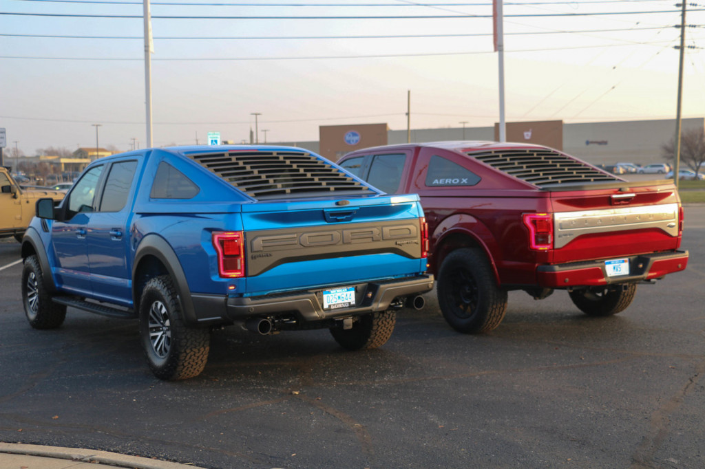 Mustang Fastback-inspired bed cap for Ford F-150, via Michigan Vehicle Solutions