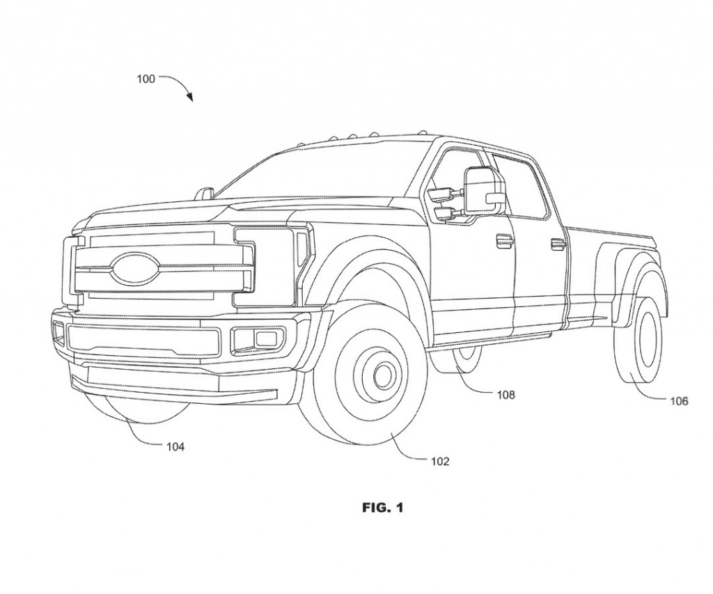 Ford F-Series four-wheel steering patent