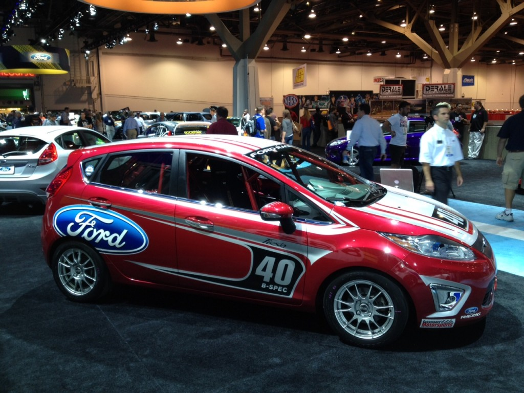 & Ford Fiesta B-Spec Race Car: 2011 SEMA Live Photos markmcfarlin.com