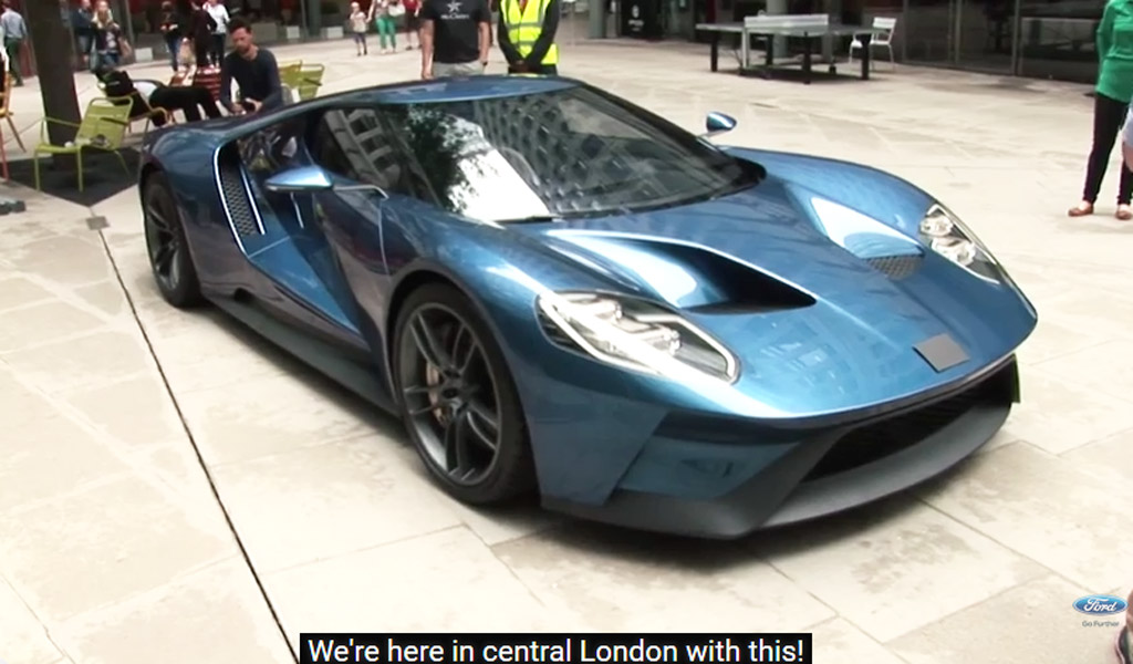 Londoners Cant Guess Gt Supercars Origins When Ford Badge Is Concealed Video
