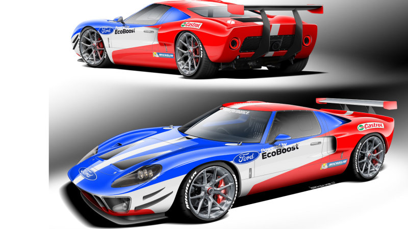 Classic Gt40 Replica Coming To Sema With Current Gt S 3 5 Liter Twin