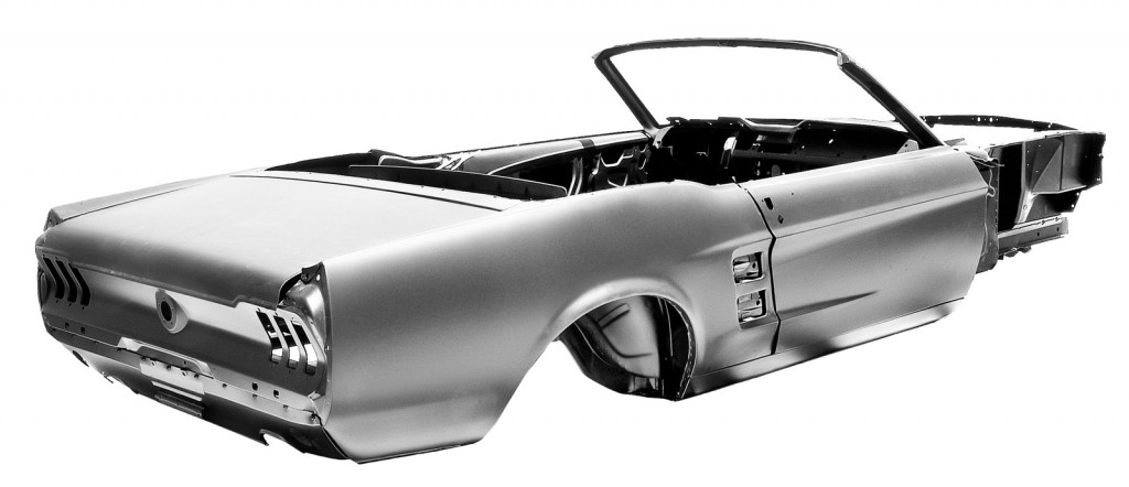latest ford-licensed body shell lets you build a new '67 mustang