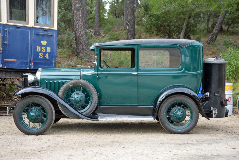Ford Model A equipped with wood-gas generator system (Photo by Ronan Glon, Hemmings)