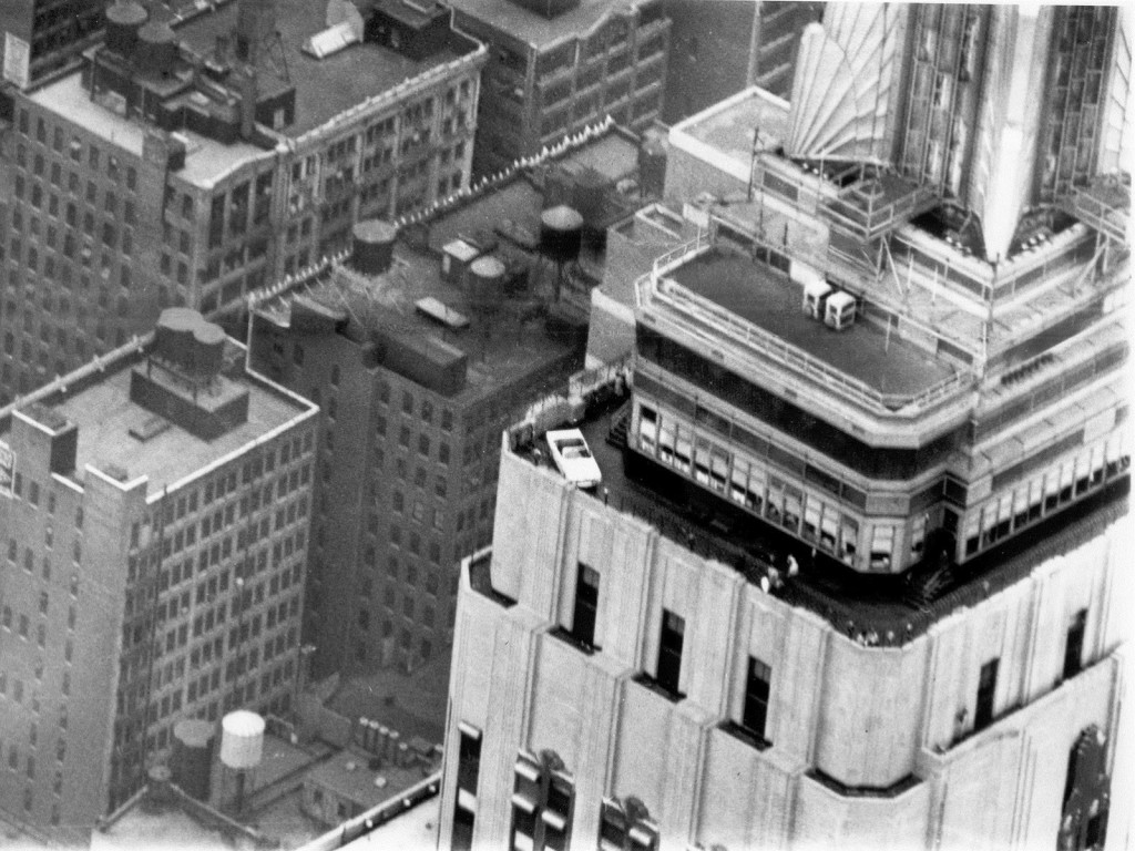 Ford Mustang Empire State Building stunt - then and now