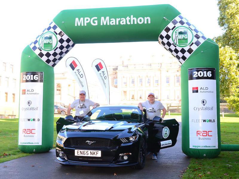 Ford Mustang is unlikely winner of UK gas-mileage marathon