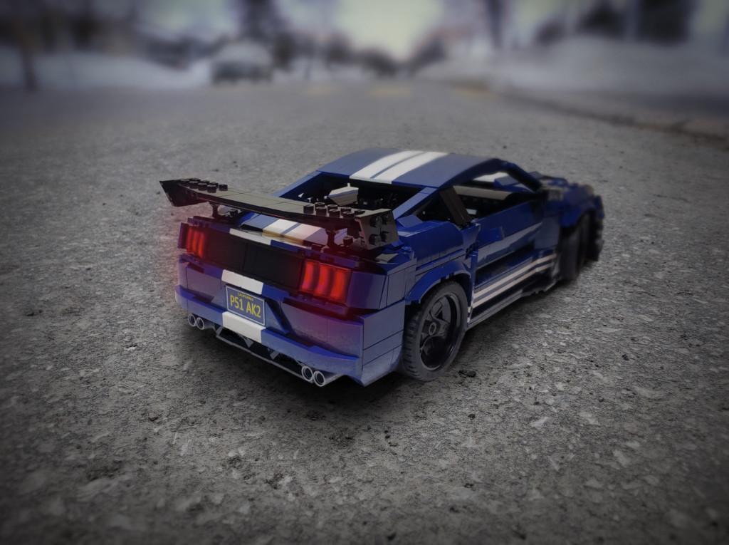 Fan-built 2020 Ford Mustang Shelby GT500 Lego kit
