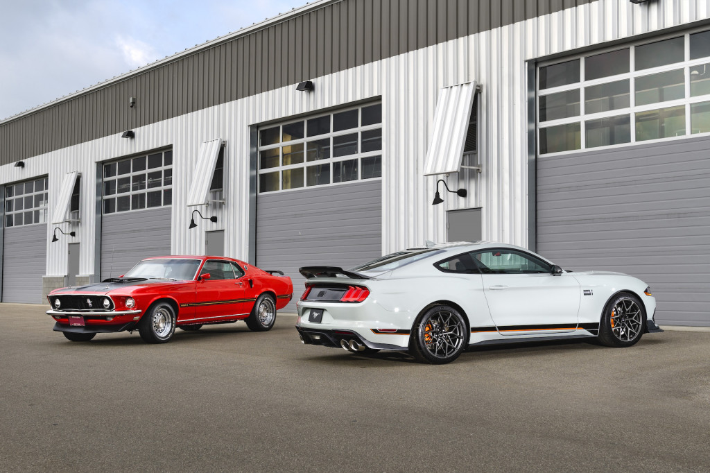 2021 Ford Mustang Mach 1 and 1969 Mustang Mach 1