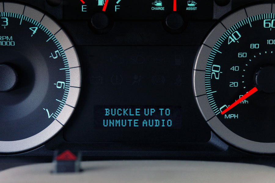 Ford MyKey Message Center-- Buckle Up