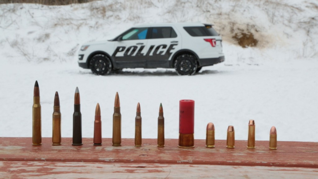 Ford Police Interceptor Utility equipped with Type IV ballistic protection