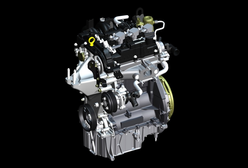 Ford's 1.0-liter EcoBoost engine. Image: Ford Motor Company
