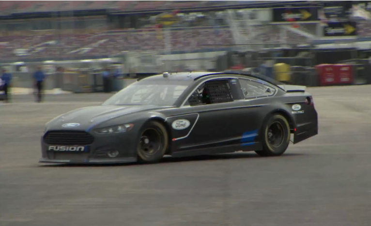 2013 Ford Fusion Nascar Sprint Cup Car Takes To The Track Video