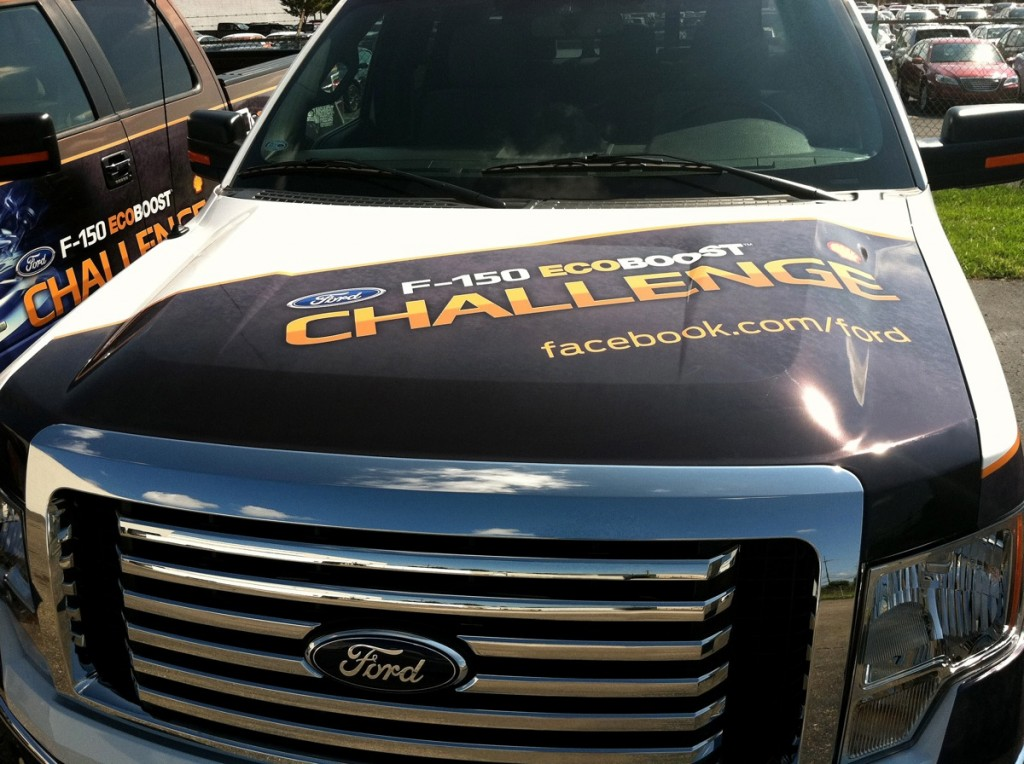 Ford's F-150 EcoBoost Challenge truck. Image: Ford
