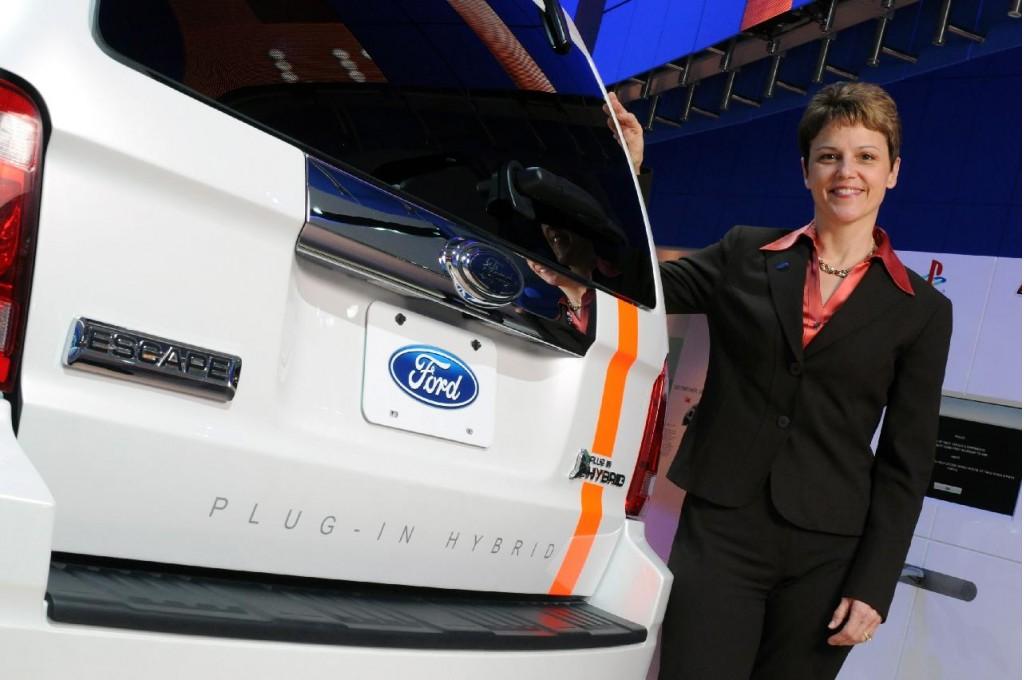 Ford's Nancy Gioia at 2008 Detroit Auto Show