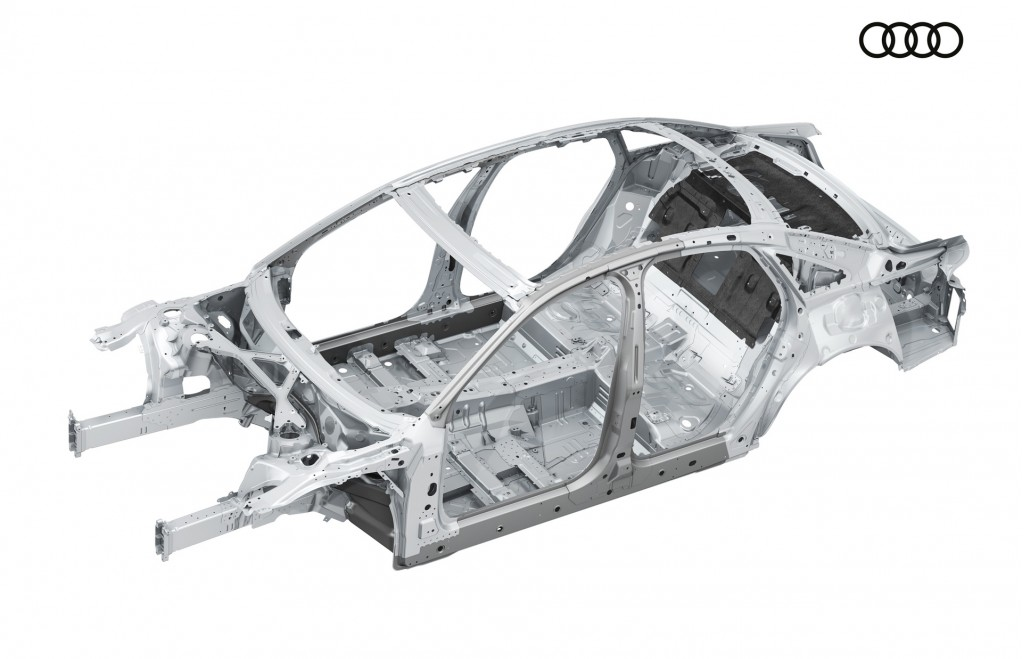 2019 Audi A8's multi-material spaceframe