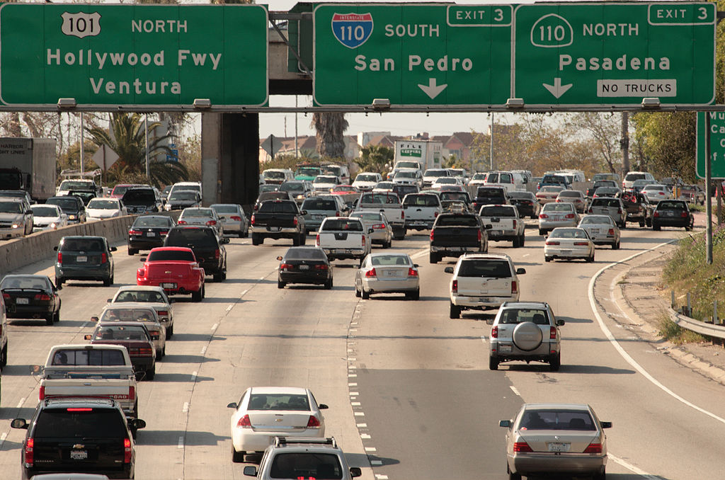 Freeway, Los Angeles, 2009 (photo by Myriam Thyes via Wikimedia)