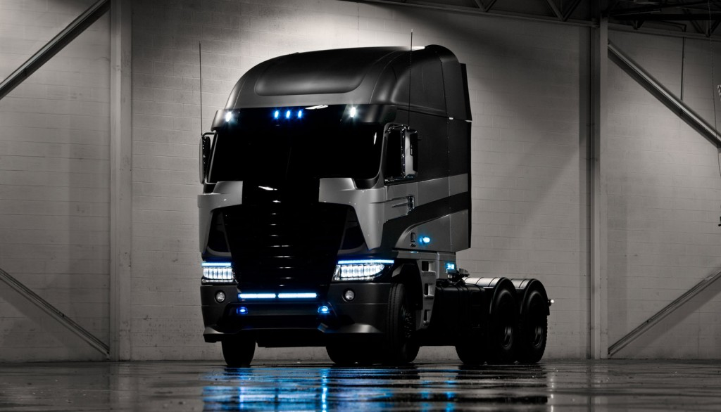 Freightliner Argosy truck on the set of Transformers 4 movie