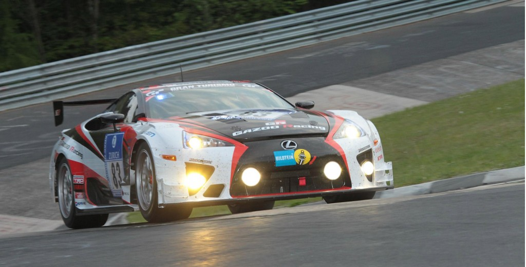 Gazoo Racing's class-winning Lexus LFA at the 2012 Nürburgring 24 Hours