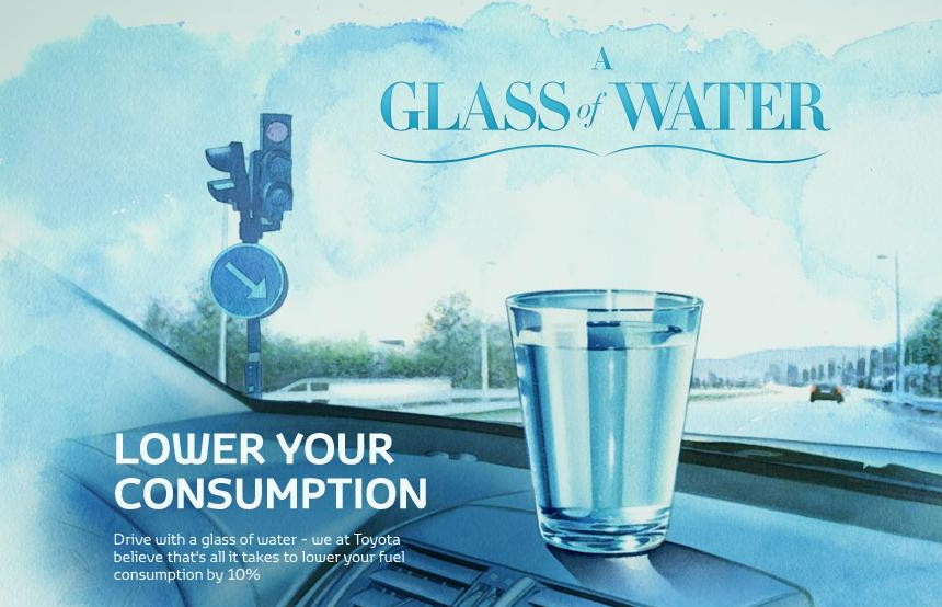 Glass of Water  -  Toyota Sweden iPhone app