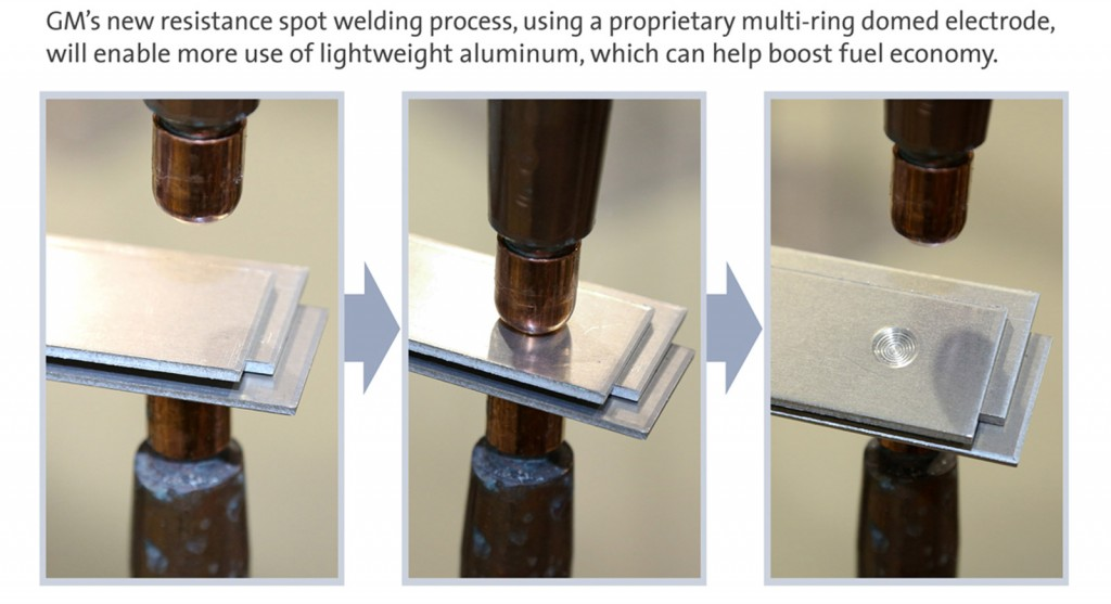 GM develops new resistance spot welding process for aluminum