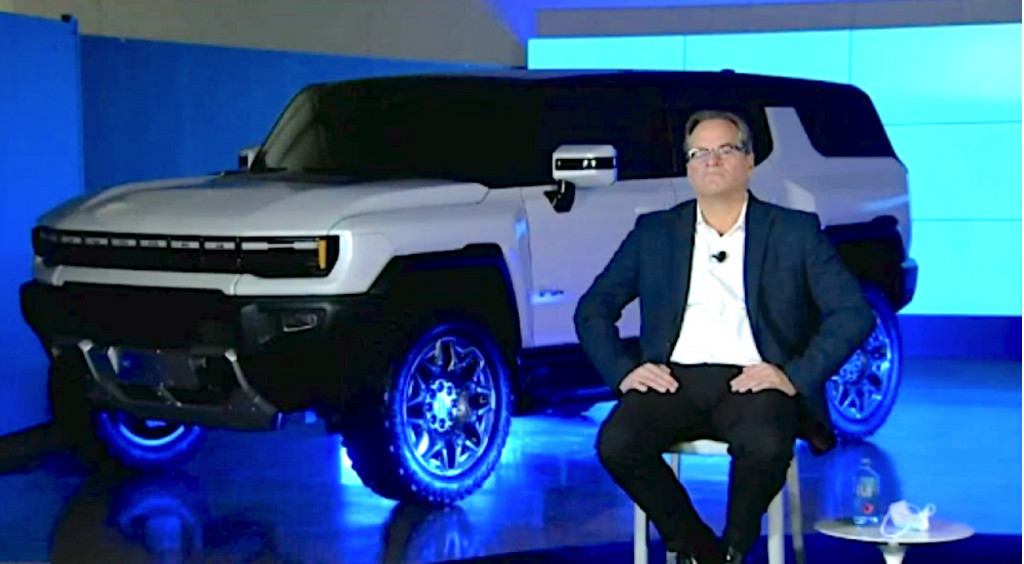 GM VP Doug Parks with Hummer EV SUV