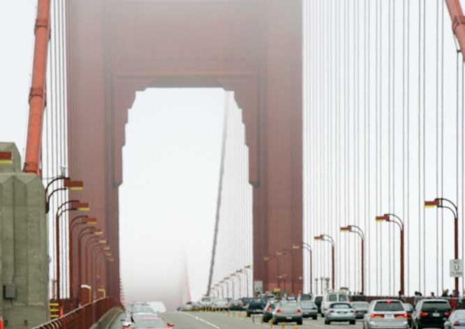 Golden Gate Bridge, connecting San Francisco and Marin County, California