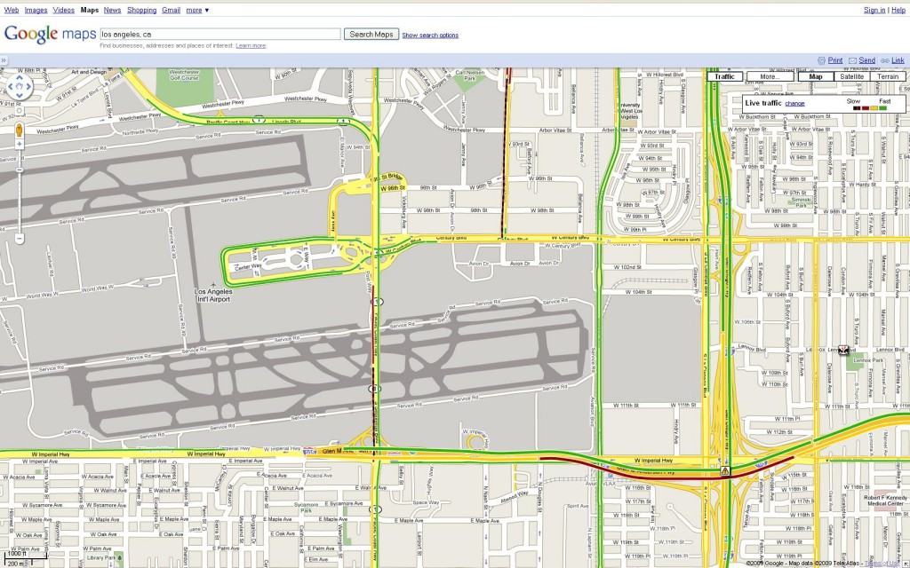 Google Maps traffic - LAX