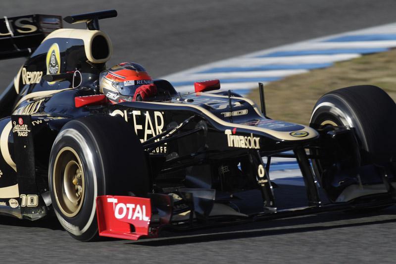 Grosjean in the Lotus/Renault - Courtesy Lotus F1 Team