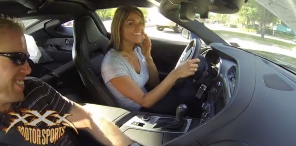 Guy surprises his girlfriend with a new 2014 Chevy Corvette Stingray