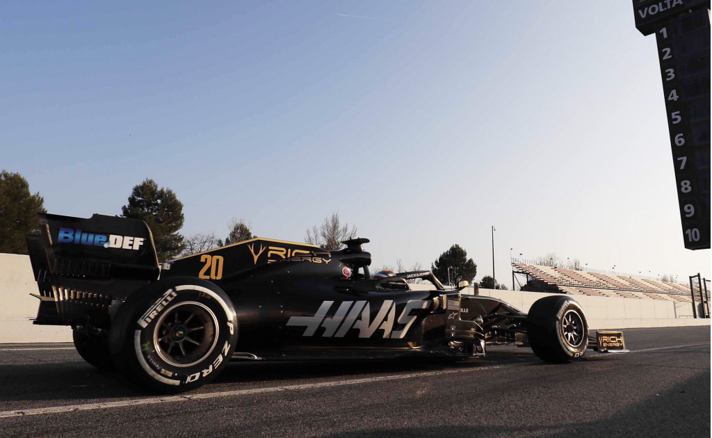 Haas' Romain Grosjean at the 2019 Formula 1 Spanish Grand Prix