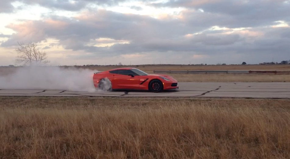 Twin-Turbo HPE C7 Corvette Rips Off Wicked Burnout: Video